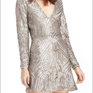 Sailor Naomi Sequin Dress in Platinum - Like New!